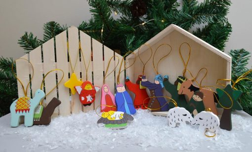 Wooden Nativity Set In Presentation Box