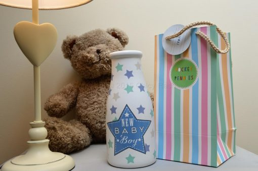 New Baby Boy Money Pot