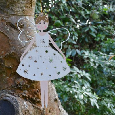 White Wooden Hanging Fairy