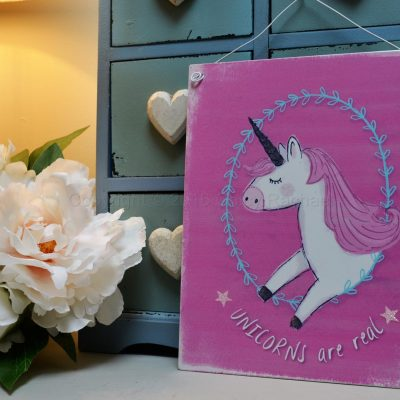 Unicorns Are Real Metal Hanging Sign