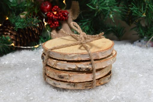 Set Of Wooden Log Coasters