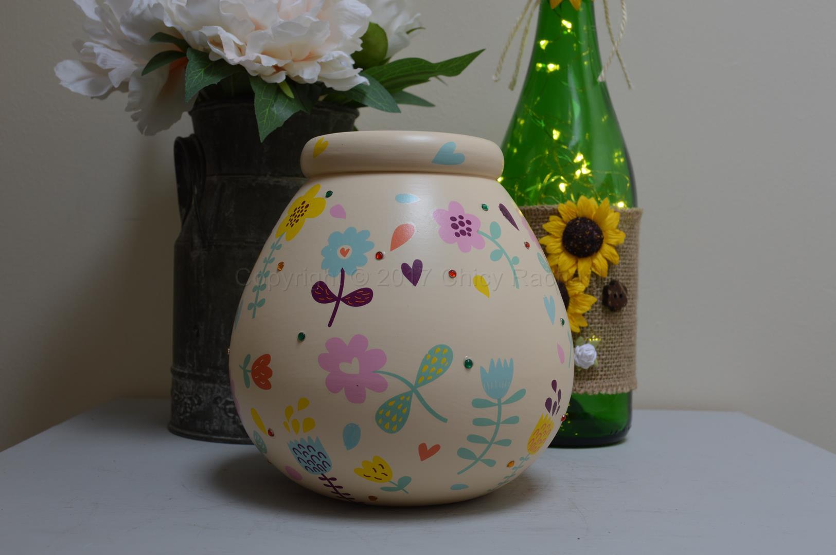 Bright Floral Pot Of Dreams 7