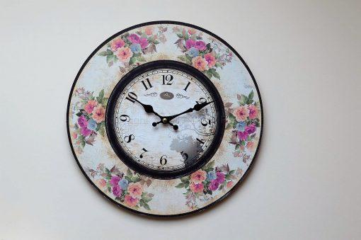 Pastel Floral Small Wall Clock 2