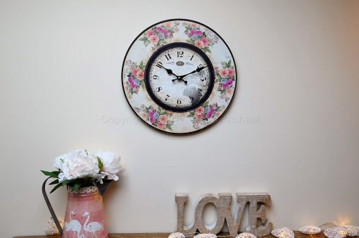 Pastel Floral Small Wall Clock
