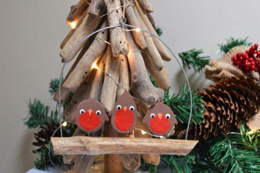Three Robins Sat On Driftwood