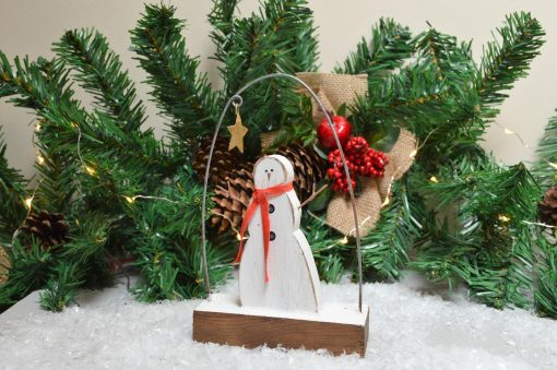 Free Standing Snowman With Scarf 2