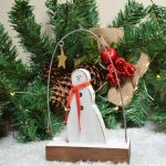 Free Standing Snowman With Scarf 4