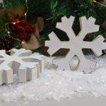 White Wooden Chunky Snowflake 2