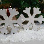 White Wooden Chunky Snowflake 5