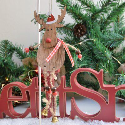 Wooden Hanging Reindeer 4