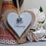 Best Nanny Double Wooden Hanging Heart 4
