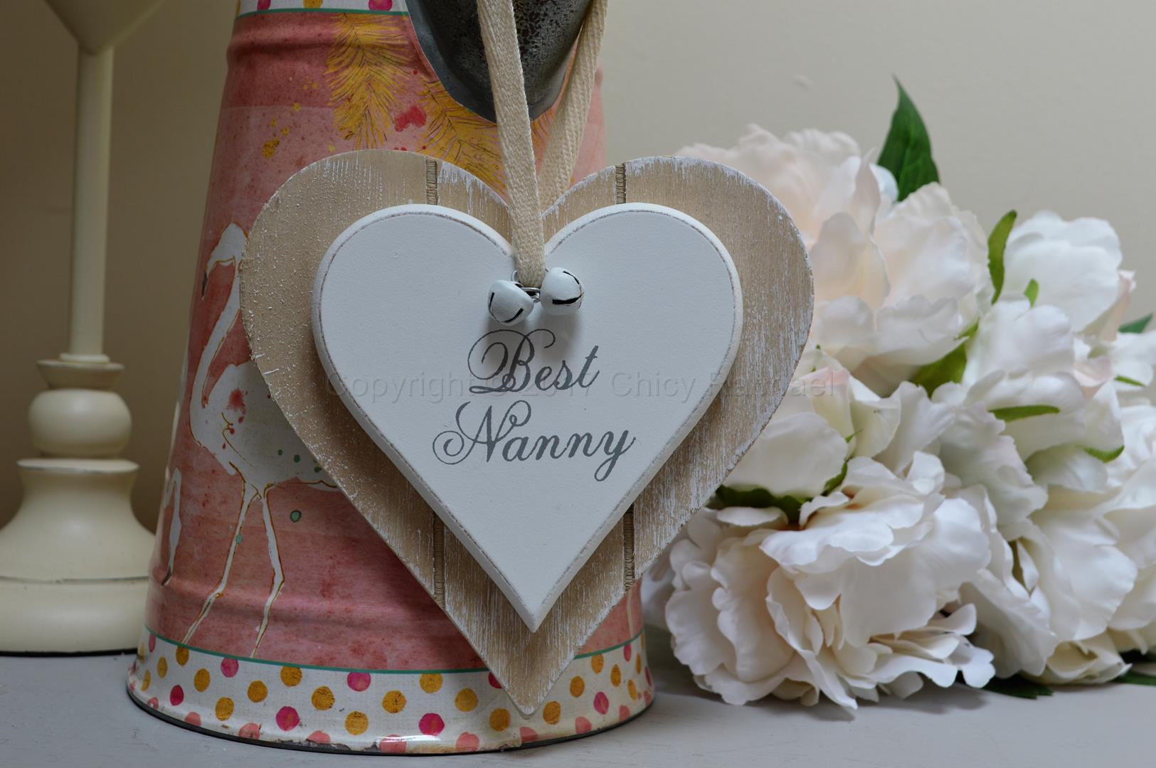 Best Nanny Double Wooden Hanging Heart 6