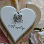 Best Aunty Double wooden Hanging Heart 4