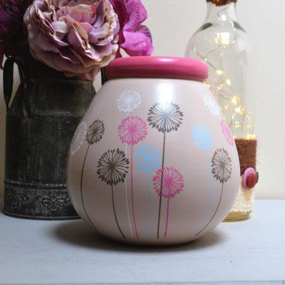 Pink Dandelion Pot Of Dreams Money Pot 3