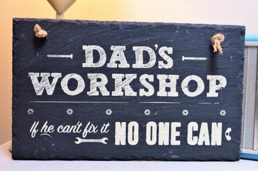 Dad's Workshop Slate Sign 3