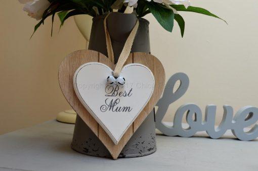 Best Mum Double Hanging Heart 2