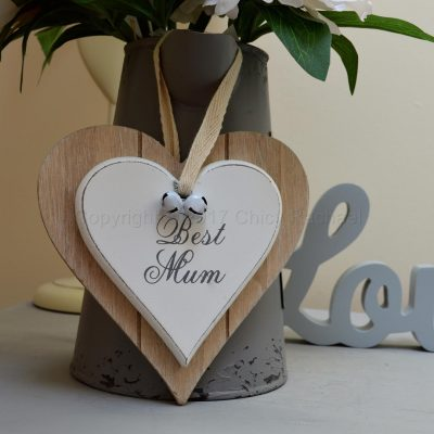 Best Mum Double Hanging Heart