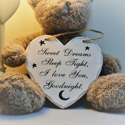 Goodnight Sleep Tight Heart plaque 2