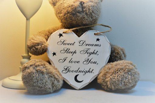 Goodnight Sleep Tight Heart plaque 2