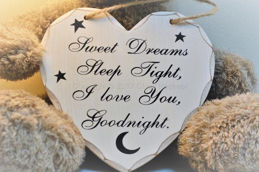 Goodnight Sleep Tight Heart plaque 4