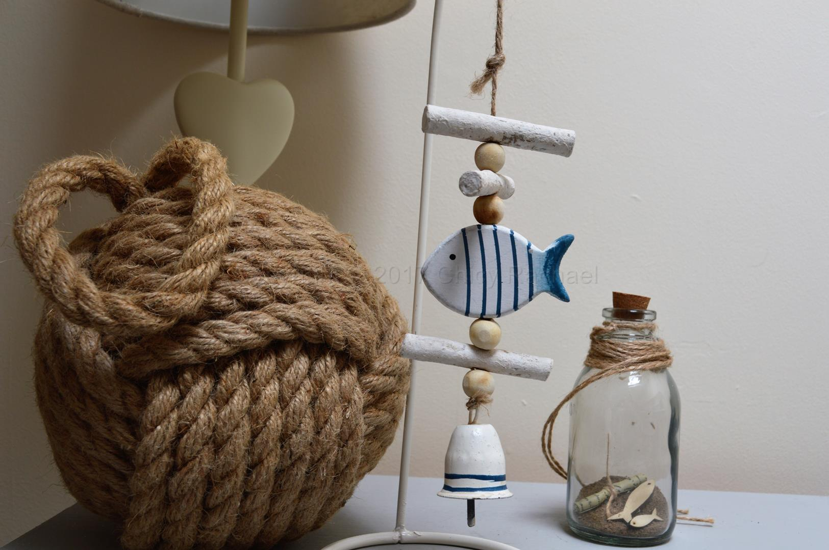 Wooden Hanging Fish Decoration