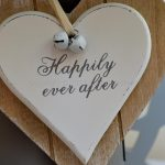 Happily Ever After Double Wooden Hanging Heart 3