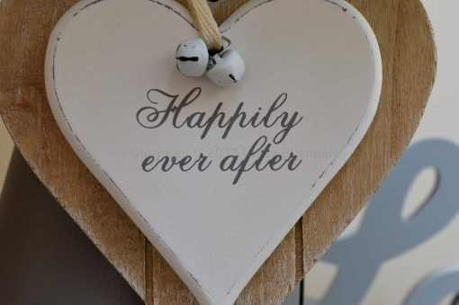 Happily Ever After Double Wooden Hanging Heart 5