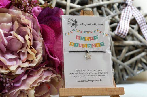 Happy Birthday Star Wish String Bracelet 2