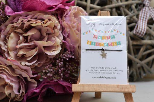 Happy Birthday Star Wish String Bracelet