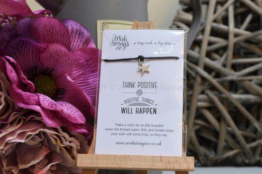 Think Positive Wish String Bracelet
