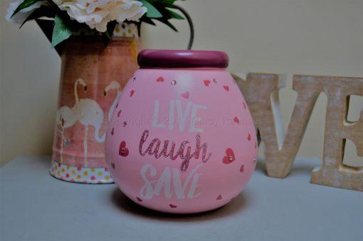 Live Laugh Save Pot Of Dreams Money Pot 2