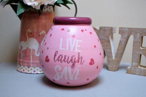 Live Laugh Save Pot Of Dreams Money Pot
