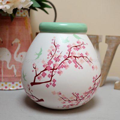 White Blossom Pot Of Dreams Money Pot