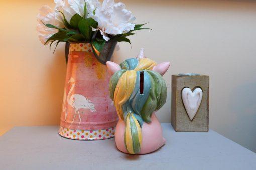 Pastel Pink Unicorn Money Box 7