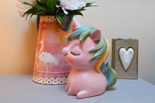 Pastel Pink Unicorn Money Box 9