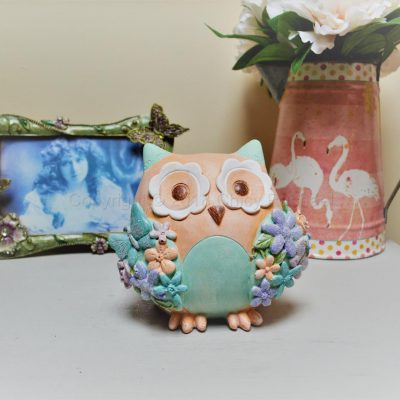 Pastel Owl Money Box 7