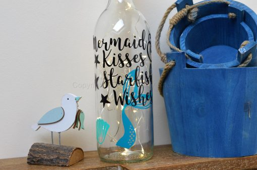 Mermaid Kisses & Starfish Wishes Light Up Bottle