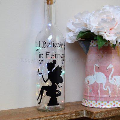 Handmade Fairy Toadstool LED Light Up Bottle