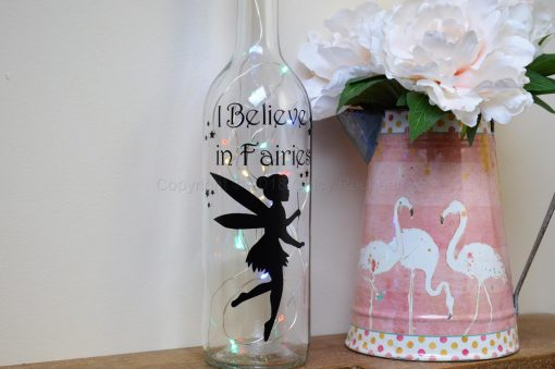 Handmade Flying Fairy LED Light Up Bottle