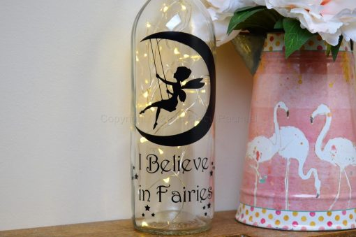 Handmade I Believe In Fairies LED Light Up Bottle