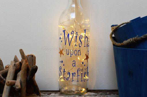 Handmade Wish upon A Star LED Light Up Bottle