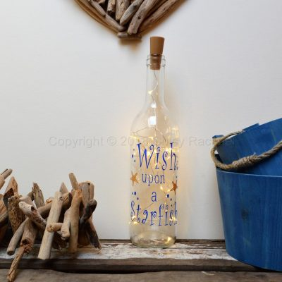 Handmade Wish upon A Star LED Light Up Bottle
