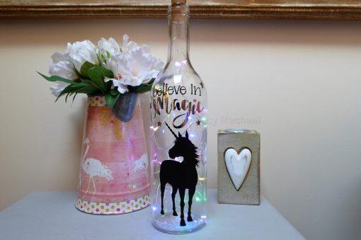 Handmade Standing Unicorn LED Light Up Bottle